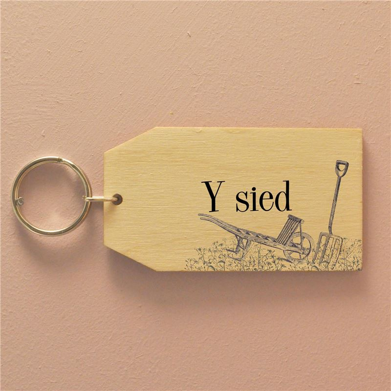 Order y sied (birch) - The Shed Keyring